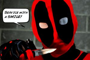 Deadpool Loves His Job by SnuffBomb