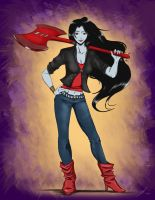 Marceline the Vampire Queen by rice-claire