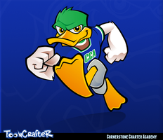 CCA Duck Mascot by hackerkuper