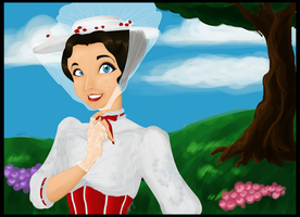 Mary Poppins by SkeletonStockings