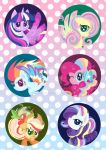MLP Rainbow Power Badge Set by mischakins