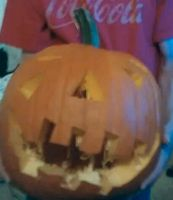 my first pumpkin carved by gump65