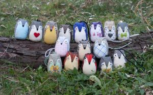 Colorful owls by freedragonfly