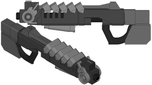 Halcyon gauss rifle by madcomm