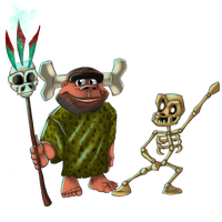 Ooga and Mr. Bones by Cocho