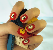 Lego Nails by conniekidd