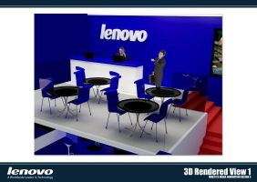 Lenovo Booth 3D Rendered 01 by chuinhao10