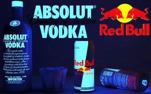 Glowing Absolut Vodka-Red Bull by Dracu-Teufel666