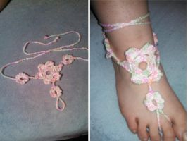 Barefoot Sandles by CrochetedMiRaClEs