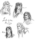 LOTR Characters by EmilyElfwing