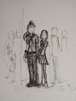 Holding hands in a crowd by tommy-tommerson