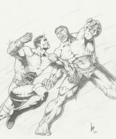 Colossus vs. Hulk by Lun-K