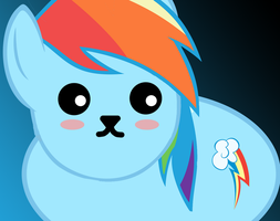 Rainbow Dash - Mameshiba Version by ShostInTheGhell