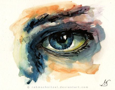 Watercolor eye by Rahmschnitzel