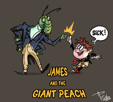 James and the giant peach by grillhou5e