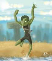 Beast Boy request 2 by Captainfusion