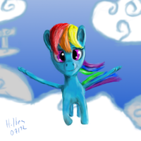 A little Rainbow Dash Painting Practice by caffeinejunkie