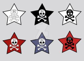 star skull tattoos by oatmealzombies