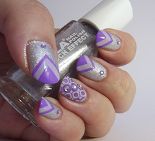 Purple and Silver Chevrons and Retro Circles! by Ithfifi