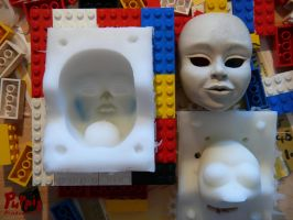 W.I.P: Firefox BJD - head mould 2 by PuppitProductions