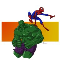 Hulk and Spidey by NJValente