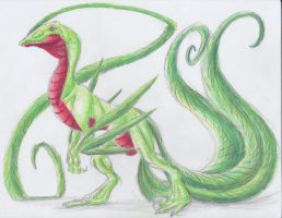December 12th 2012: Grovyle by UltimateSassMaster
