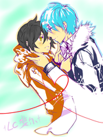 Hatsune and Kagene by KiraiRei
