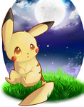 Little Moon Pikachu by XcrystalthewolfX