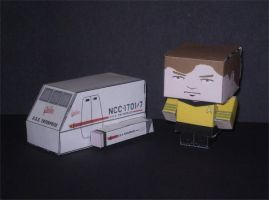 Shuttlecraft and Kirk Cubee's by CyberDrone