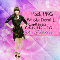 +Pack PNG Demi Lovato ElenEditions by ElenEditions