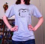 It's been a long day says mr. owl - tshirt by InkyDreamz