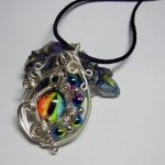 Rainbow Glass Dragon Eye Pendant by Create-A-Pendant