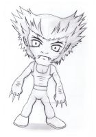 traditional : chibi wolverine 2014 by darshan2good