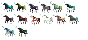 Horse Draw Adopts [OPEN!] by Kipwi