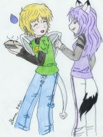 Your Wing or the Pie_Colored by Denna