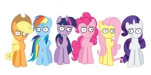 Mane six Woot face by TheMightySqueegee