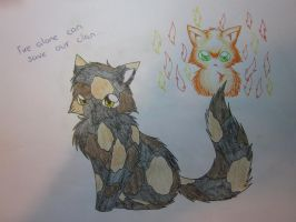 Fire alone can save our Clan.. by FlareAKACuteFlareon