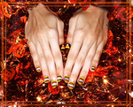 Candy Corn Nails 2014 by wondering-souls