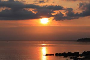 sunset, the Gulf of Finland by KaterinaRaed