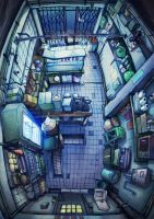 butcher shop, top view by arthurwkw