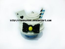Blue Alice Cupcake charm by funkypink