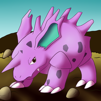 .:TUT:. Nidorino by CollectionOfWhiskers