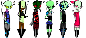 5 point irken adoptables .:.CLOSED.:. by M3CHY