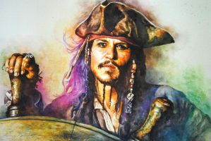 jack sparrow painting by ls2-TheBloodOfPeace