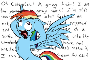 Rainbow's Gray Hair by MidnightQuill