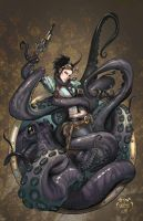 Lady Mechanika Octopus attack by joebenitez