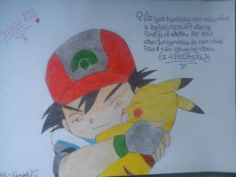 Ash and Pika by whozZy94