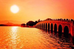 Sunset The 17-Arch Bridge by sunny2011bj