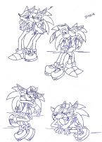 Sonourge sketcheeeeees..... by SonicXLelile