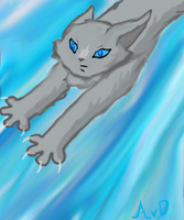 Bluestar leaping by MidnightsBloom